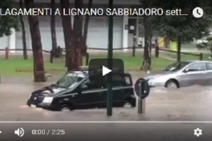 MALTEMPO – Lignano Sabbiadoro come… Venezia -VIDEO-